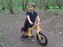 George on his Early Rider balance bike